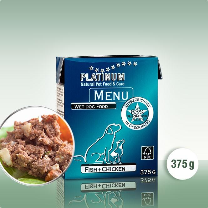 Мека Кучешка Храна PLATINUM MENU Пиле + Риба