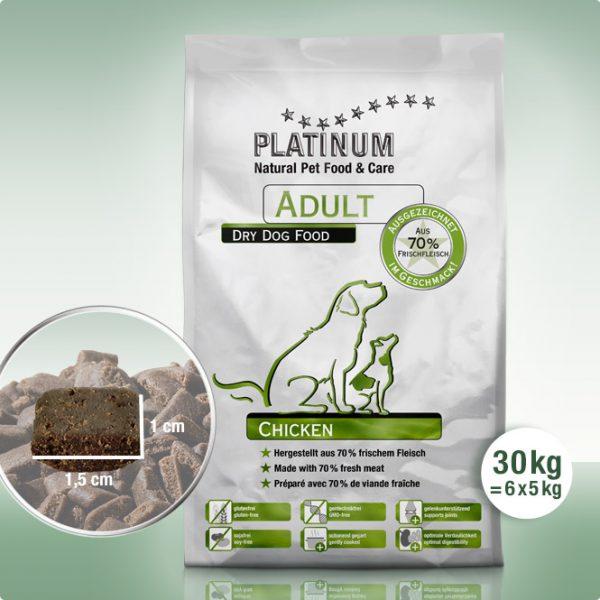 Сочна Суха Храна за Кучета Platinum Adult Chicken