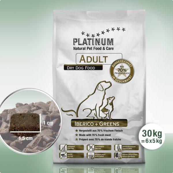 Суха Храна за Кучета Platinum Adult Iberico + Greens