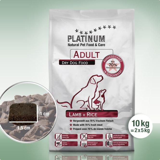 Суха Храна за Кучета Platinum Adult Lamb + Rice