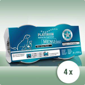 Висок Клас Мека Храна Platinum MENU MINI Пиле + Риба