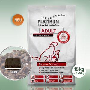 Суха Храна за кучета Platinum Adult Beef + Potato 15 kg