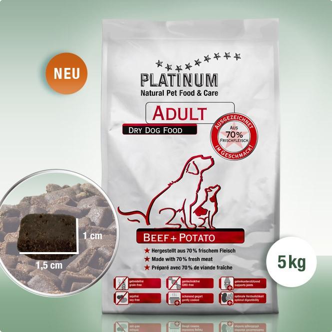 Суха Храна за кучета Platinum Adult Beef + Potato  5 kg