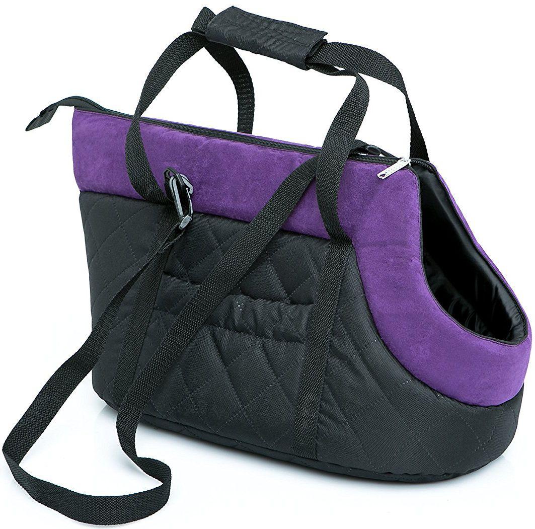 Чанта за куче черно/пурпурно