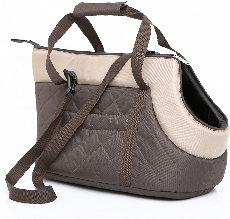 Чанта за куче кафяво/бежово