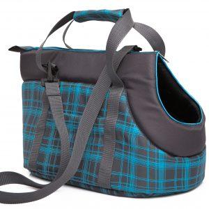 Чанта за куче графит/небесно синьо