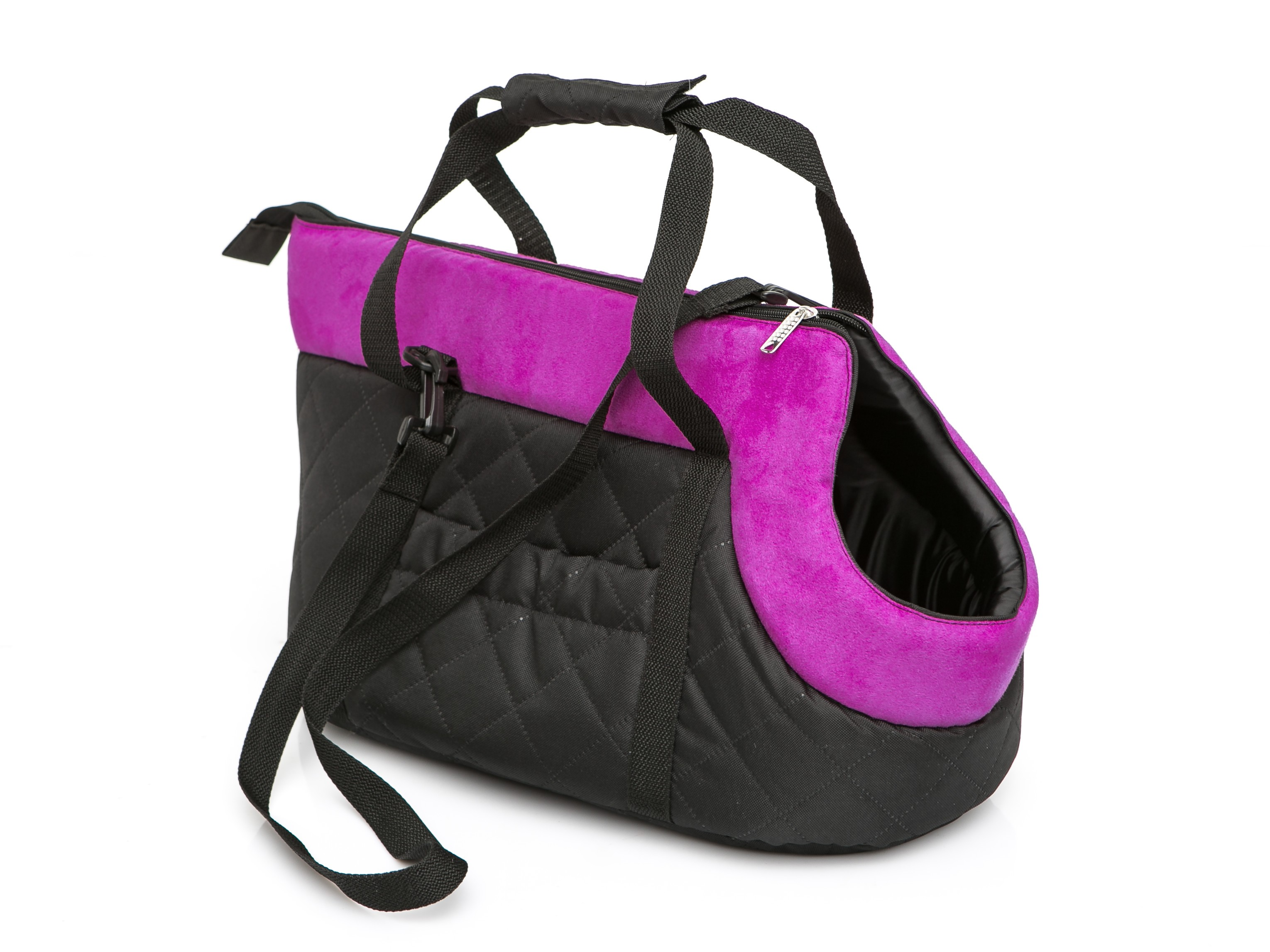 Чанта за куче черно/розово размер