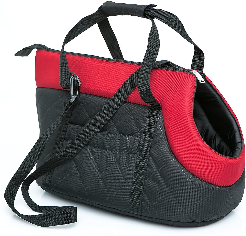 Чанта за куче черно/червено
